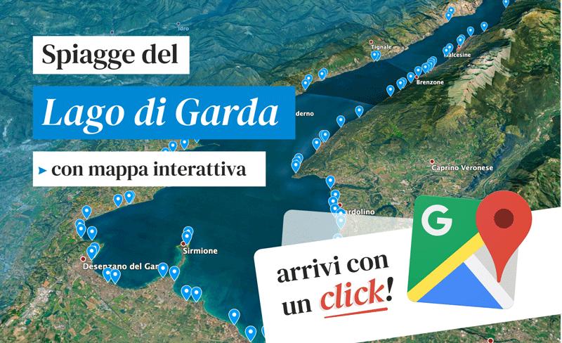 Garda Lake Beaches ☀️ interactive map!
